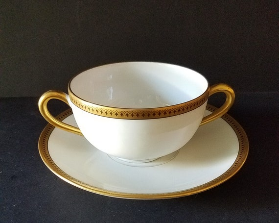 B&C Limoges France Tea Cup and Saucer