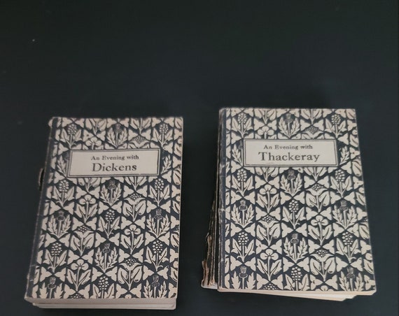 """Set of 8 """"An Evening With..."""" Books 1907"""