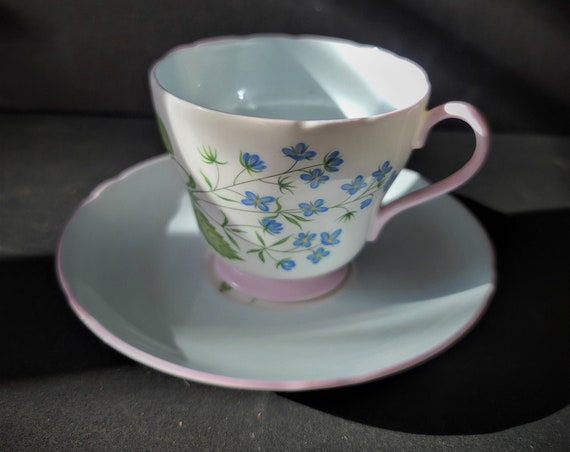 Shelley Forget Me Not Teacup and Saucer