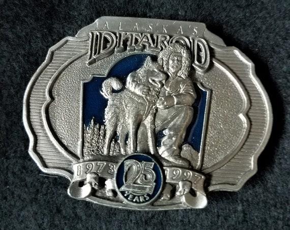 Alaska Iditarod Race Belt Buckle 25th Anniversary