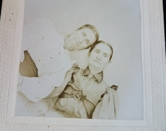 Odd Antique Photograph of Two Women