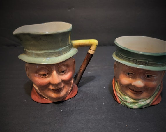 Beswick Tony Weller Cream and Sugar Mr & Mrs Micawber