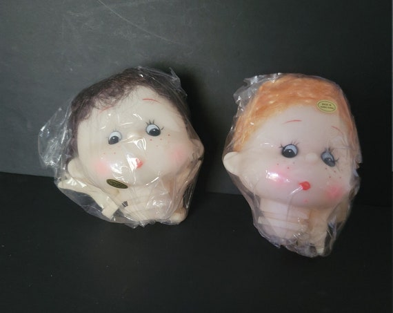 Vintage Doll Heads and Hands made in Hong Kong