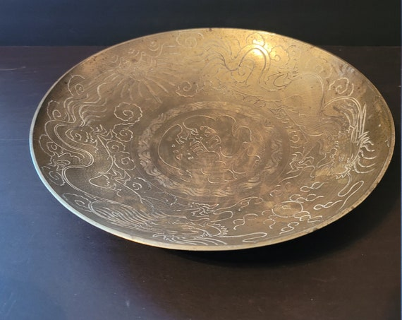 Vintage Chinese Made Brass Bowl