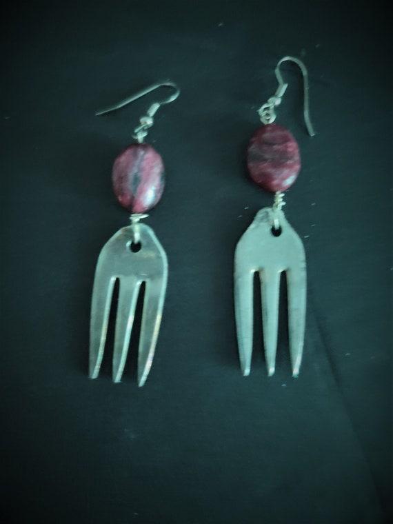 Shrimp Fork Earrings