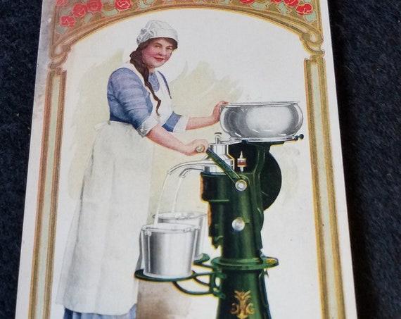 1916 Sears King Cream Separator Postcard
