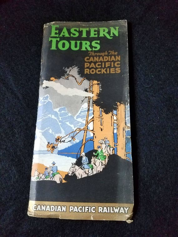 Vintage/Brochure/Eastern Tours Through the Canadian Pacific Rockies