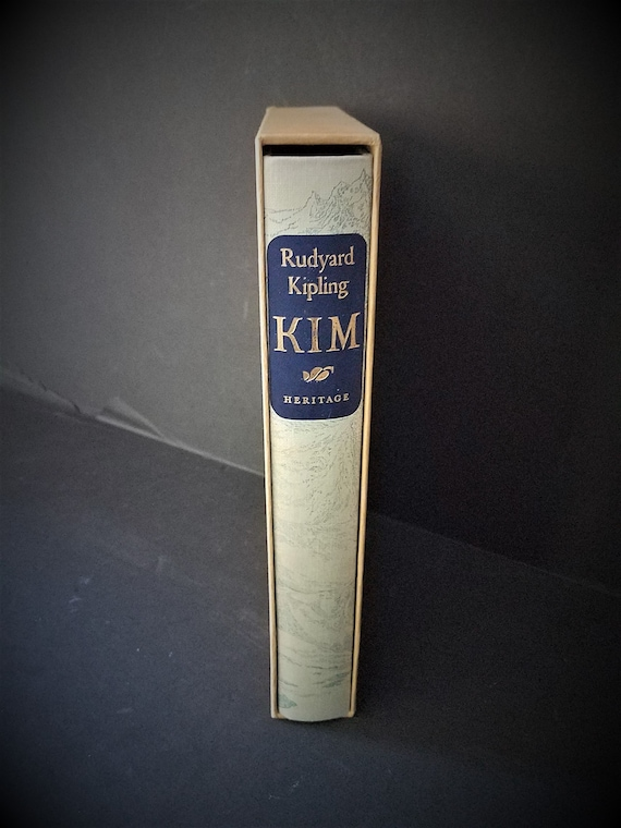 "Heritage Press Rudyard Kipling ""Kim"" 1963"