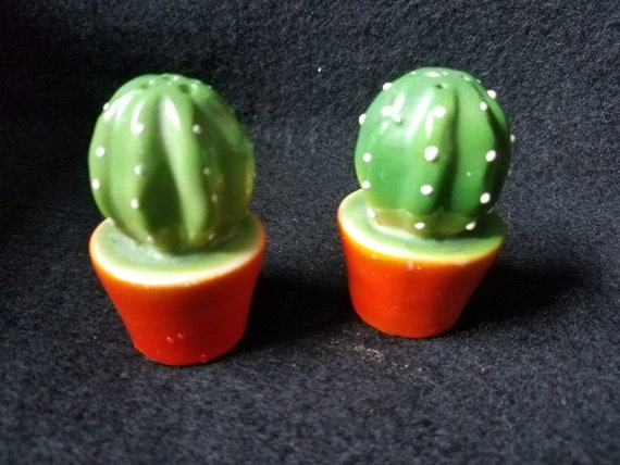 1930s Cactus Salt and Pepper Shakers