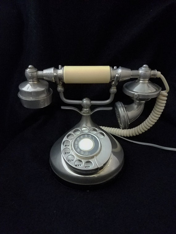 Art Deco Style Chrome ITT Phone 1970s