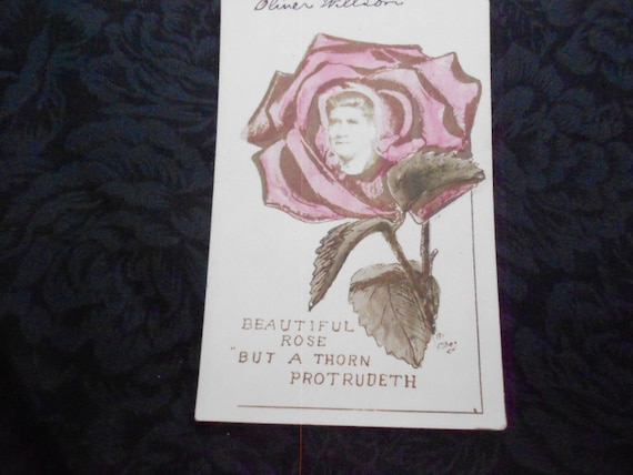 Postcard with a picture in a Rose