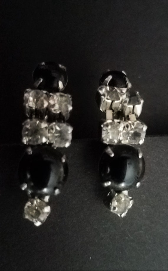 1950s Crystal Earrings