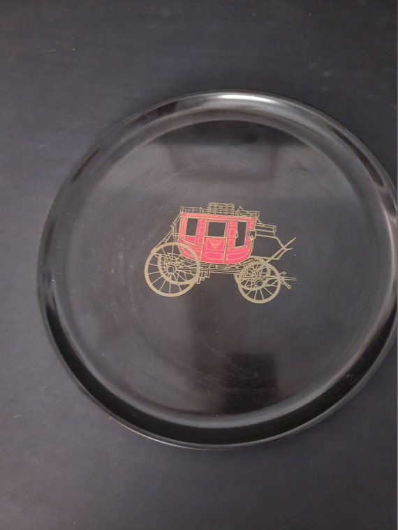 Couroc Tray with Carraige Inlay