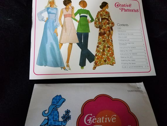 Vintage Creative Pattern Book Dress Tunic