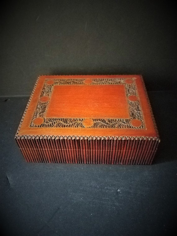 Hand-carved Polish Wood Box