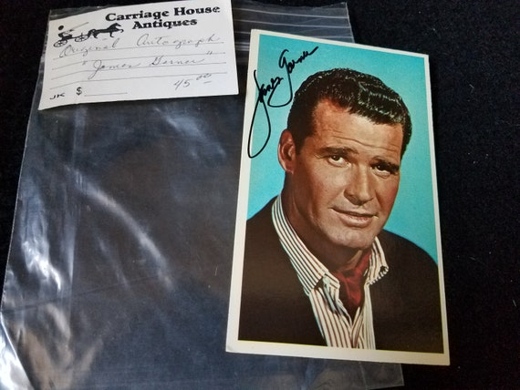 James Garner Autographed Movie Card 1965