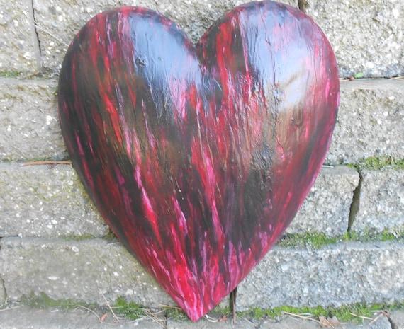 Art/ Original/ My Black Heart/ wood/ poetry/OOAK