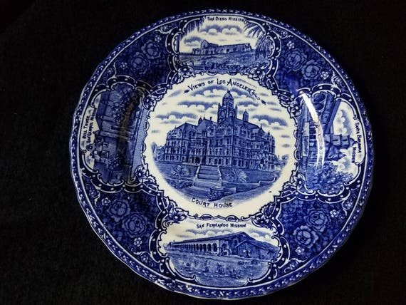 Antique Views of Los Angeles Plate