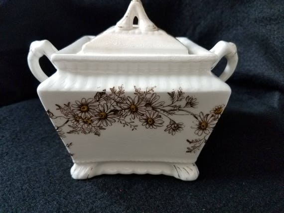 Imperial China Tureen Brown Daisies