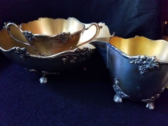 Rockford Quadruple Plate 2778 Hollow Ware Silver Bowls Set
