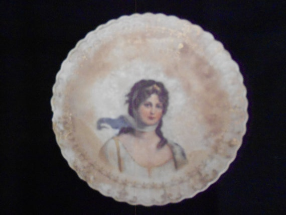 Antique Sterling China Plate Advertisment