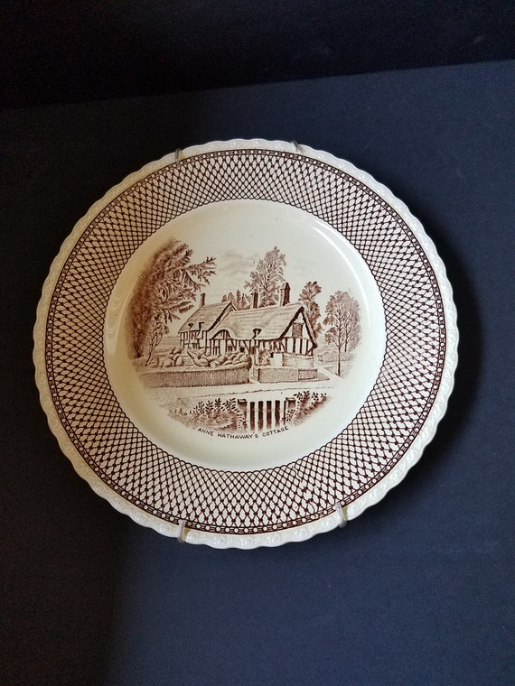 Plate 1950s Mott Sons & Co Anne Hathaways Cottage