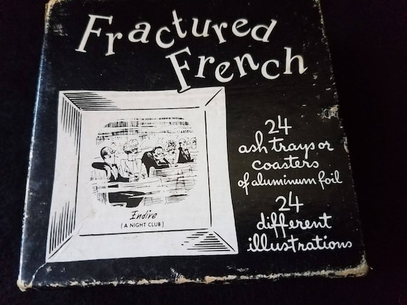 Coasters/Ashtrays/Illustrations/Fractured French/1950