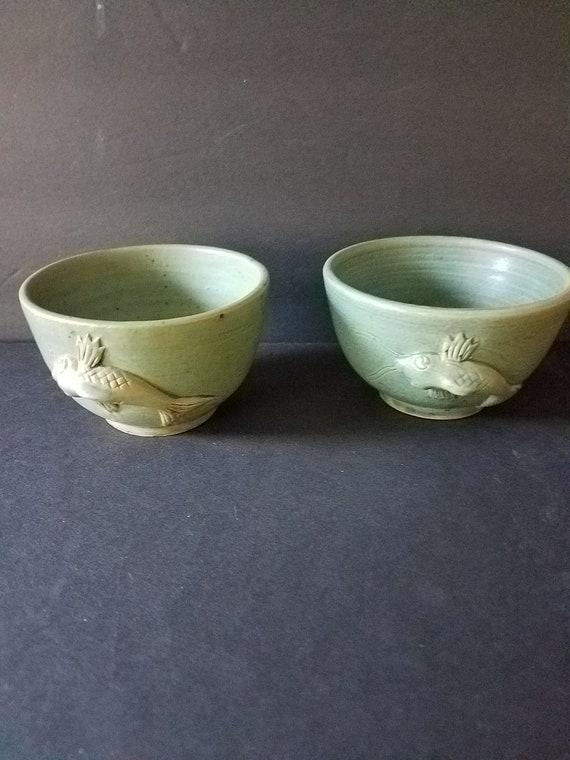 Vintage Japanese Koi Fish Tea Cups