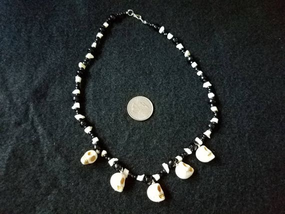 White Coral Skull Necklace