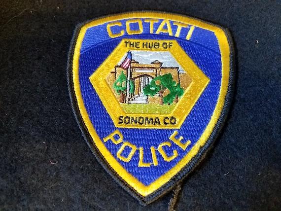 1980s Cotati CA Police Patch