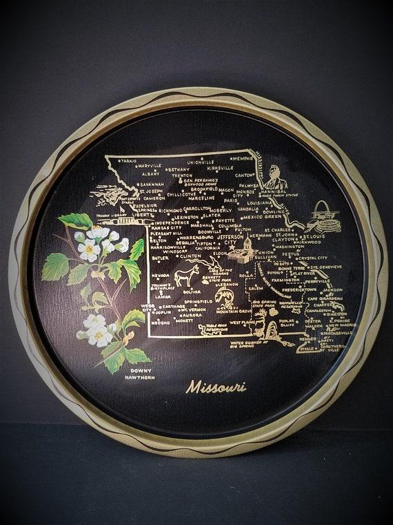 Missouri Souvenir Vintage Tray