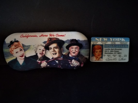 I Love Lucy Eyeglass Case and Drivers License