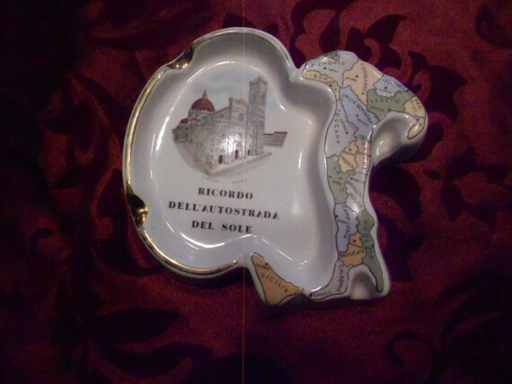 Ashtray/ Italian/ Souvenir/Vintage