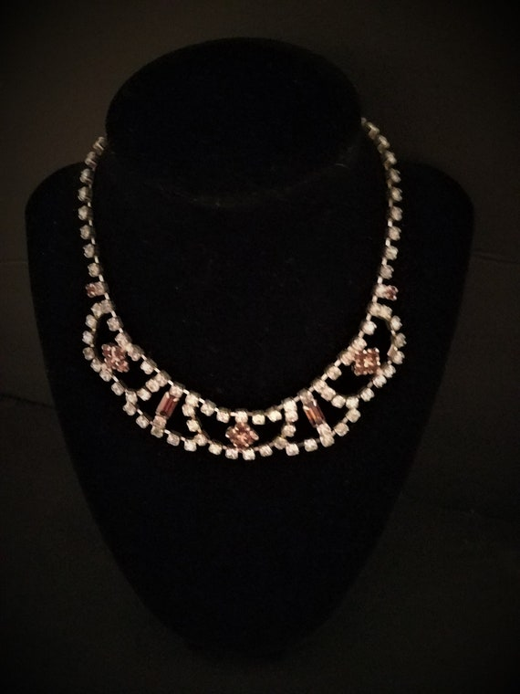 Vintage Rhinestone Cup Chain Necklace