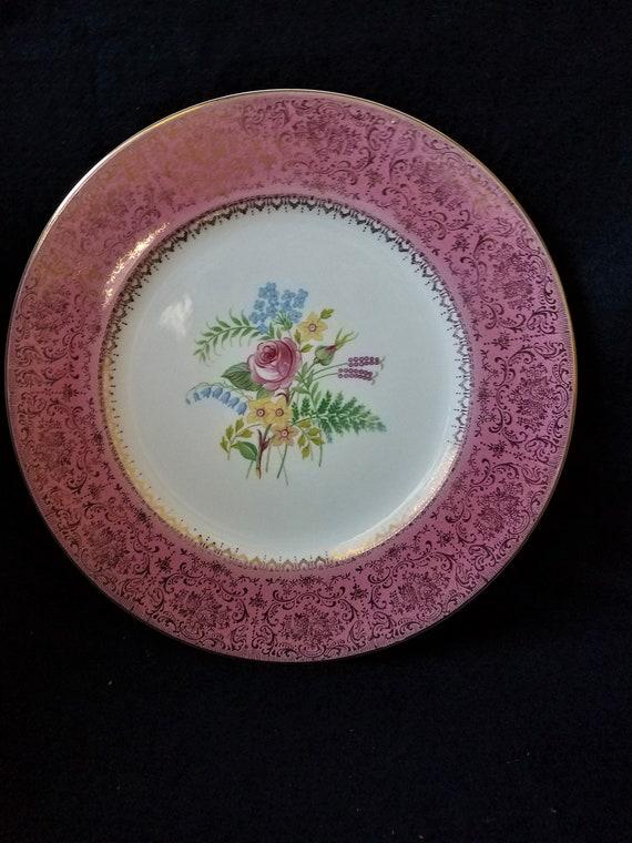Salem China 23 K Vintage Plate