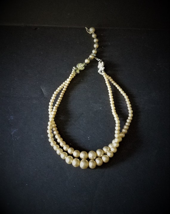 Double Strand Faux Pearl Choker