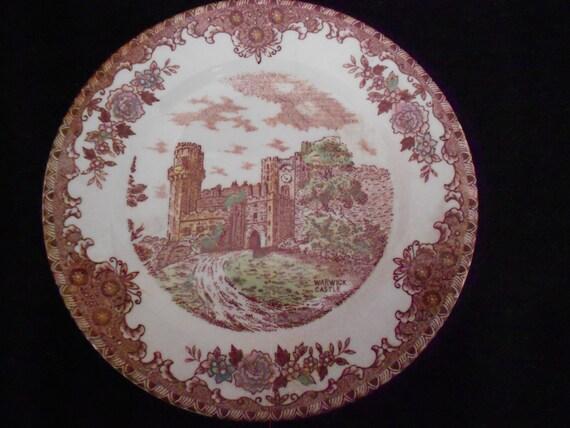 Plate/ Warwick Castle/ England/ Souvenir/ Transferware/ Vintage