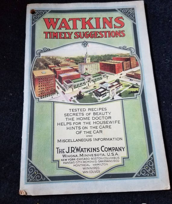 Watkins Timely Suggestions/Tested Recipes/Hints/1934