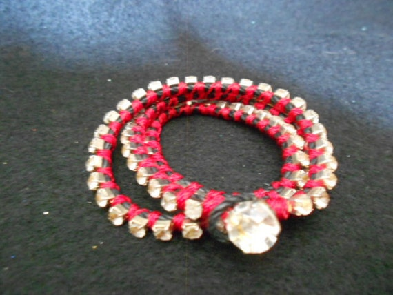 Bracelet/Wrap/Cup Chain/Red