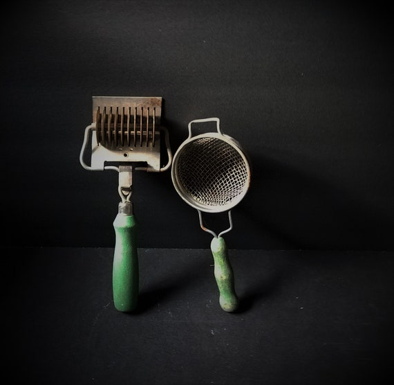 Vintage Noodle Cutter and Strainer
