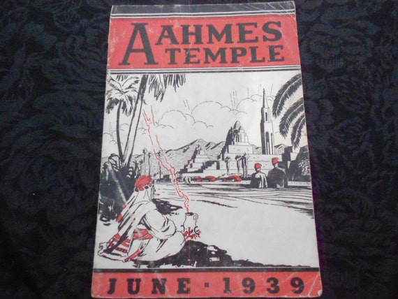 1939 Masonic Newsletter Aahmes Temple Oakland CA