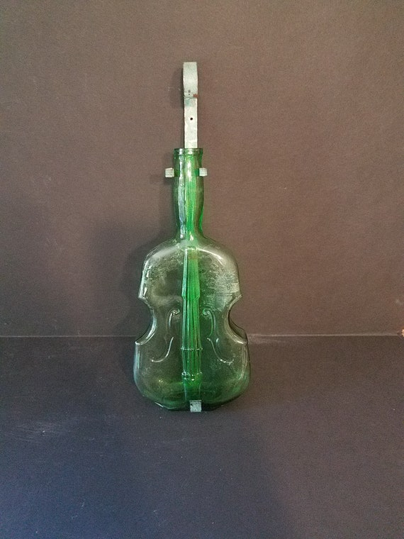 Large Violin Bottle with Holder