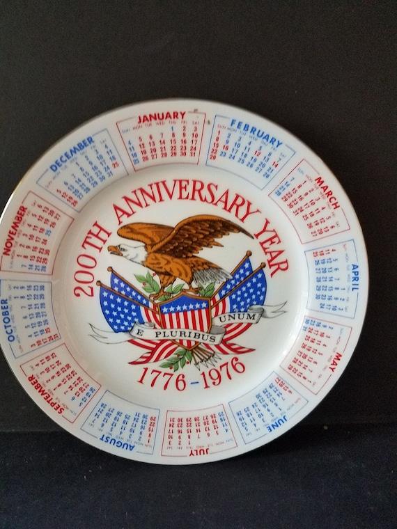 Bicentennial Calendar Plate
