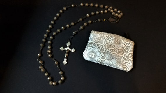 c. 1940s Mother of Pearl Rosary
