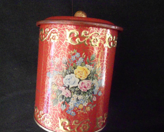 German Red Metal Canister