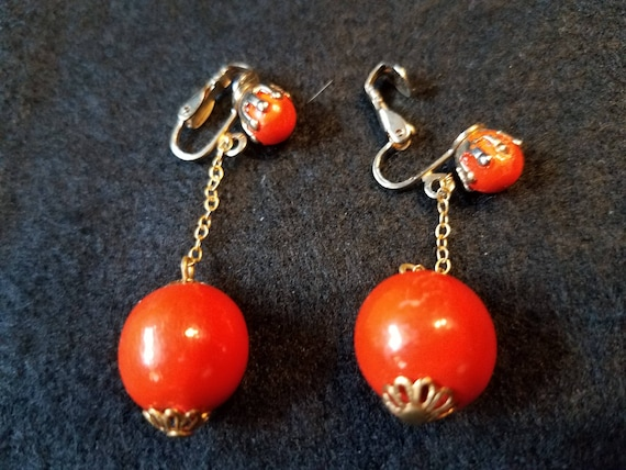 Vintage Ball Dangle Earrings