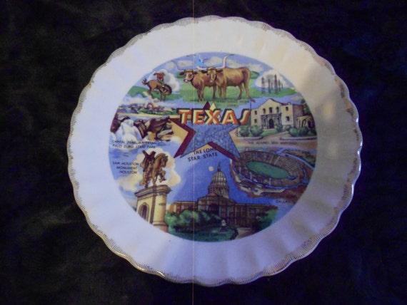 Plate/1960s/ Texas/ Souvenir/Decor