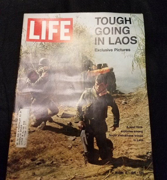 1971 Life Magazine Tough Going in Laos