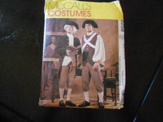 US Revolution Costume Pattern Mens