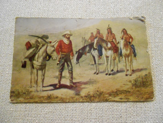 "1911/Postcard/ ""Friend or Foe""/Ephemera"